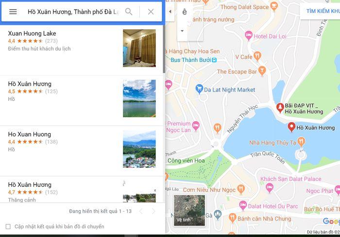 Bản đồ du lịch Việt Nam online trên Google Map