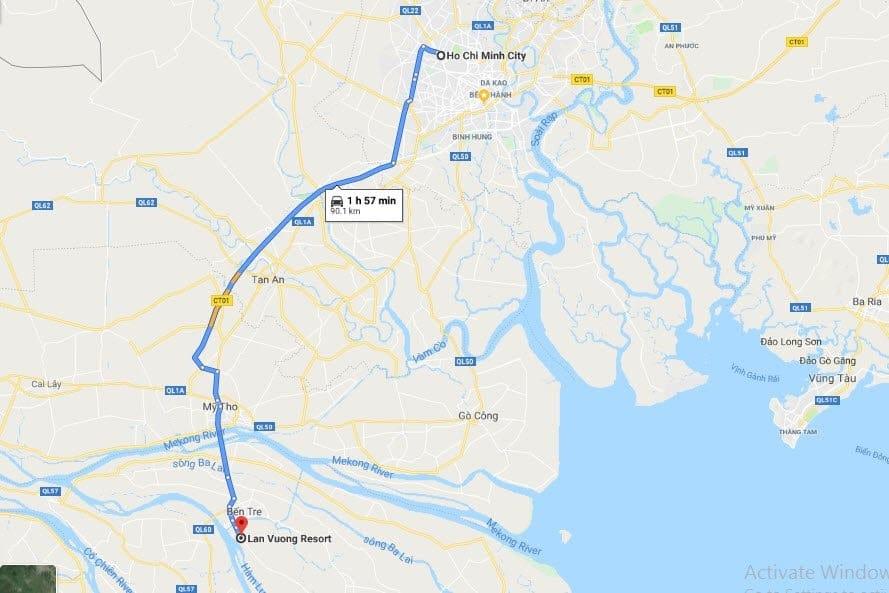 Cách di chuyển từ Sài GÒn đến khu du lịch Lan Vương