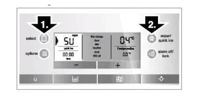 Chức năng đông lạnh siêu nhanh của tủ lạnh Bosch side by side