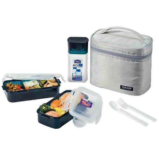 Bộ Túi Hộp cơm Lock and Lock bằng Nhựa giữ nhiệt HPL758DG