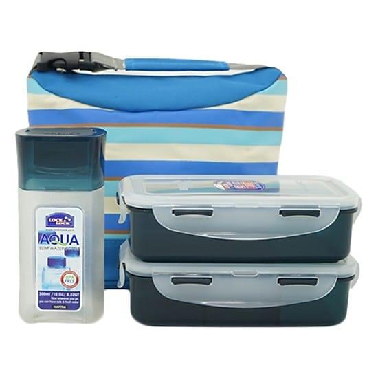 Bộ Túi Hộp cơm Lock and Lock giữ nhiệt Stripe Pattern Bag