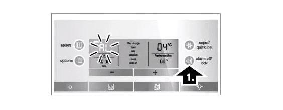 Tín hiệu cảnh báo cửa - Hướng dẫn sử dụng tủ lạnh Bosch side by side
