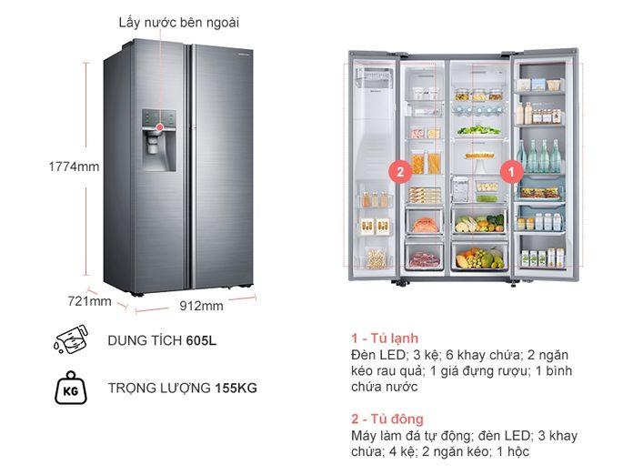 Tủ lạnh Samsung có ngăn kệ rất linh hoạt