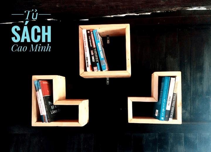 Tủ sách Cao Minh thiết kế độc đáo, ấn tượng