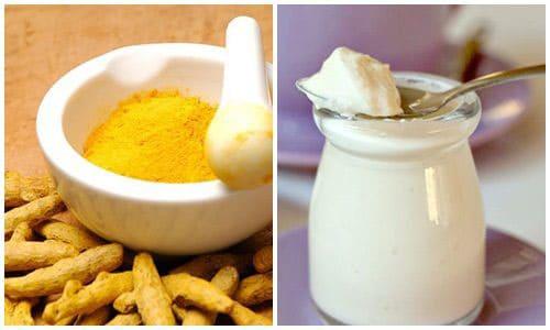 Mặt nạ trắng da từ sữa chua và tinh bột nghệ